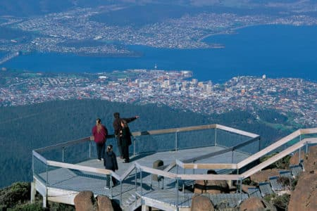 Viewing platform at the top of Mt Wellington