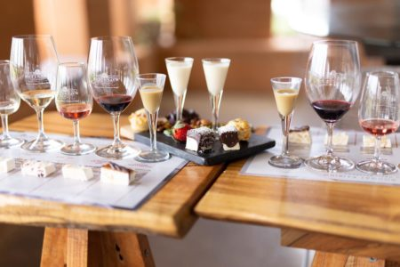 Nougat + Wine Matching includes grazing board